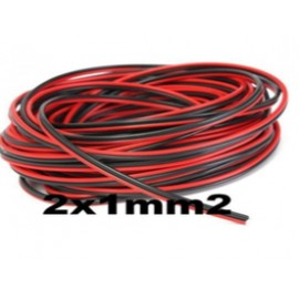 Cable paralelo audio bicolor 2x1mm2 rojo/negro