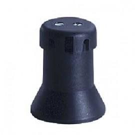 Portalamparas feria E27 250V negro para guirnalda solera