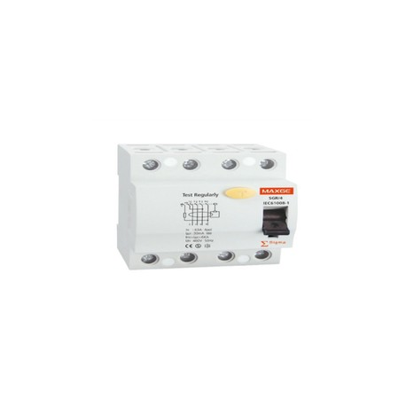 interruptor diferencial industrial 4 polos + neutro 30ma clase ac 6ka