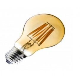 Bombilla LED E27 Regulable Filamento Classic Gold A60 6W
