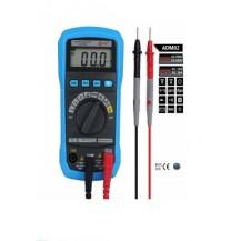 multimetro digital con sonda de temperatura BSIDE ADM02 Rango